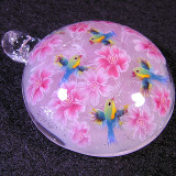Cherry Blossoms and Red-billed Leiothrix Size: 1.53 Price: SOLD