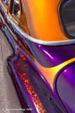 Purple and Gold Reflection Abstract