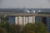 View from Ziemelblazma tower towards Downtown