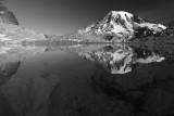 Mt Rainier from Pinnacle Glacier Tarn