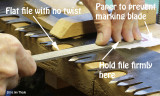 Inverse Crosscut Saw Filing / Sharpening