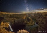 Palouse Falls by Star and Moon Light
