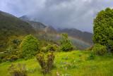 Early morning rainbow at Aoraki Mt Cook