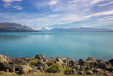 Aoraki Mt Cook from the Lake Pukaki carpark