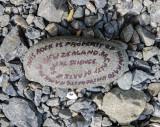 20 Nov 2009 - random rock found beside road near Kaikoura