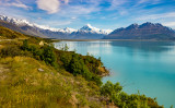 On the road to Mt Cook, Lake Pukaki on the right