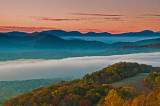 Sunrise view from Max Patch Mountain on the NC/TN border.