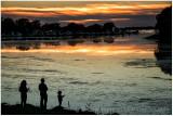 Sunset fishers.