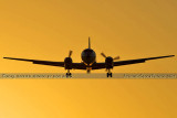 2013 - Convair cargo aircraft on short final approach to OPF aviation airline aviation stock photo