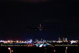 2013 - American Airlines B757-223 landing on runway 9 at Miami International Airport at night