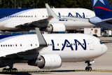 2014 - multiple LAN aircraft on the J-ramp at MIA aviation aircraft stock photo #3260C
