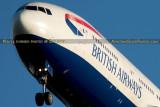 2014 - closeup of British Airways B777-236/ER G-VIIO on short final approach aviation airline aircraft stock photo # 4023C
