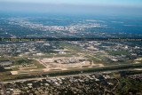 2014 - aerial photo of Tampa International Airport and downtown Tampa landscape stock photo #4784