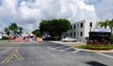 Main entrance road to Air Station Miami during the Coast Guard Picnic