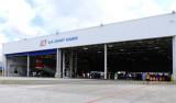 The fixed-wing aircraft hangar at Coast Guard Air Station Miami