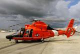 Coast Guard MH-65C Dolphin #CG-6604 on display at the Coast Guard Day Picnic