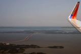 2014 - aerial view of the Chesapeake Bay Bridge aerial landscape stock photo #5580