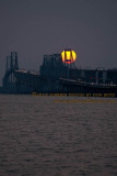 2014 - the Chesapeake Bay Bridge at sunset landscape stock photo #5624