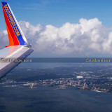 2014 - aerial view of the Southwest winglet and downtown St. Petersburg aerial landscape stock photo #5914C