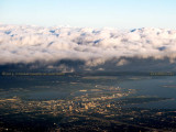 2014 - cloud bank over downtown Tampa aerial landscape stock photo #5923C