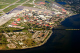 2014 - aerial photo of the eastern side of MacDill Air Force Base military landscape stock photo #6118C