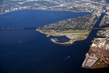 2014 - aerial photo of Tampa's Bayshore Boulevard (top), Davis Island and ship channel landscape aerial photo #6121