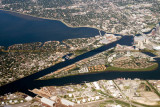 2014 - aerial photo of Davis Island, Seddon and Sparkman Channels and Harbour Island aerial landscape stock photo #6125