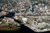 2014 - aerial photo of downtown Tampa landscape stock photo #6126C