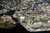 2014 - aerial photo of downtown Tampa landscape aerial stock photo #6127
