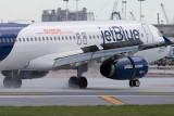 2014 - first flight landing on FLL's new runway 10-right (JetBlue A320-232 N709JB)