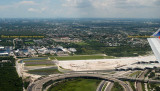 2014 - closer up aerial photo of the elevated portion of FLL's new runway 10R-28L aviation stock photo #5557