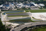2014 - closer up aerial photo of the elevated portion of FLL's new runway 10R-28L aviation stock photo #5557C