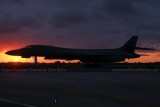 U. S. Air Force B-1B Lancer bomber #85-0087 at sunset military aviation stock photo #2613
