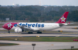 2015 - Edelweiss Air Airbus A330-343 HB-JHQ rare landing roll out on runway 1-R at TPA aviation stock photos #9349