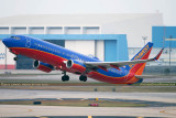 2015 - Southwest Airlines B737-8H4 N8651A rare takeoff on runway 28 at TPA aviation stock photo #9354