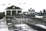 1939 - one-year old Coast Guard Station Lake Worth Inlet with rails from the boathouse to the waters edge