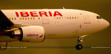 Iberia Airlines Airbus A330-200 EC-MIL about to touch down on runway 9 at MIA aviation airline stock photo