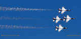 2016 - Air Force Thunderbirds at practice show over the Air Force Academy military aviation stock photo #4757