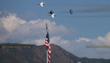 2016 - Air Force Thunderbirds at practice show over the Air Force Academy military aviation stock photo #4818