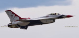 2016 - Air Force Thunderbird #2 taking off from Peterson Air Force Base military aviation stock photo #4855