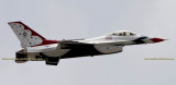 2016 - Air Force Thunderbird #2 taking off from Peterson Air Force Base military aviation stock photo #4857