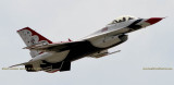 2016 - Air Force Thunderbird #3 taking off from Peterson Air Force Base military aviation stock photo #4859