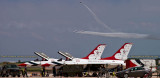 2016 - Air Force Thunderbirds making a pass down the runway at Peterson Air Force Base military aviation stock photo #4875