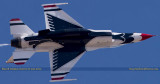 2016 - Thunderbird #8 (two-seat media aircraft) making a pass over the flight line at Peterson AFB military aviation photo 4879C