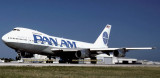 1986 - Pan Am B747-212B N723PA China Clipper II taking off aviation airline stock photo #US8610