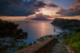 Early morning from the ancient stair  from Capri to Anacapri