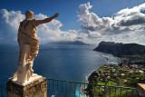 A wiev of Capri, from the terrace of Caesar Augustus hotel, in Anacapri.