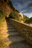 Early morning from the ancient stair  from Capri to Anacapri. La scala Fenicia, Anacapri side.