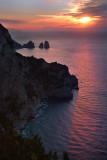 A sunrise from  the Migliera, a  small cliff in Anacapri territory