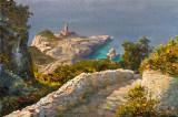 Capri in oil paintings.